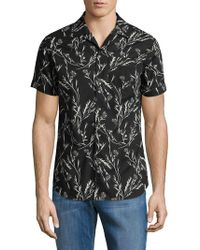 SELECTED Flash Cotton Short-sleeve Shirt - Black