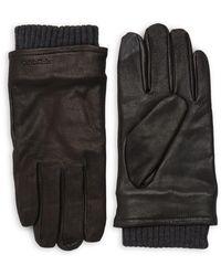 Calvin Klein - Leather Driving Gloves - Lyst