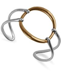 Lucky Brand Two-tone Openwork Circle Cuff Bracelet - Metallic