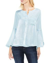 Vince Camuto - Two By Bell Sleeve Geo Dialogue Top - Lyst