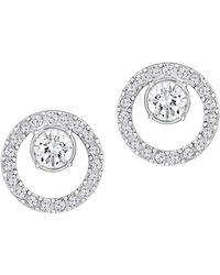 Swarovski Creativity Circle Rhodium-plated & Crystal Earrings - Metallic