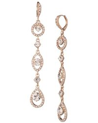Givenchy - Rose Gold-tone Crystal Linear Drop Earrings - Lyst