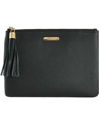 Gigi New York - All-in-one Pebbled Leather Clutch - Lyst