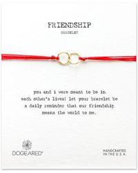 Dogeared - Friendship Two-ring String Bracelet - Lyst