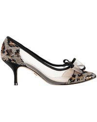 Nina Bianca Bow Pointy Court Shoes - Metallic