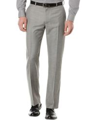 Perry Ellis - Big And Tall Textured Flat Front Suit Pants - Lyst