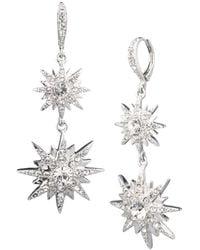 Givenchy Crystal Star Drop Earrings - Metallic