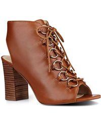 Nine West - Bree Leather Peep-toe Shootie - Lyst