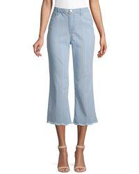 Democracy - Striped Frayed Jeans - Lyst