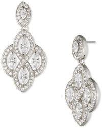 Anne Klein - Crystal Sparkling Drop Earrings - Lyst