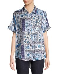 Lord + Taylor - Francie Tapestry Roll-sleeve Shirt - Lyst