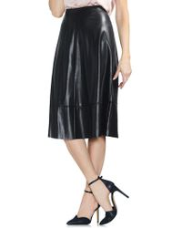 Vince Camuto - Faux Leather Skirt - Lyst