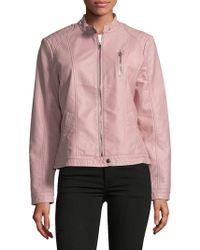 Vero Moda - Stand Collar Full-zip Jacket - Lyst