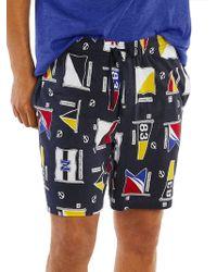 Nautica - Signal Flag Motif Cotton Pajama Shorts - Lyst