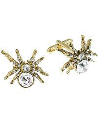 1928 Crystal-embellished Spider Cufflinks - Metallic