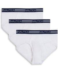 Nautica - Three-pack Cotton Briefs - Lyst