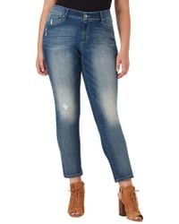 Jessica Simpson Plus Arrow Wide-cuff Straight-fit Jeans - Blue