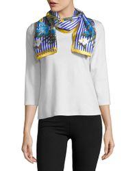 Lauren by Ralph Lauren - Striped Floral Silk Tie - Lyst