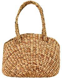 Bay Sky Wicker Shoulder Bag - Natural