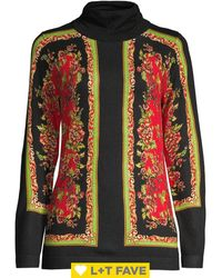 Lord + Taylor - Printed Rollneck Sweater - Lyst