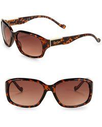 Jessica Simpson - 56mm Rectangular Sunglasses - Lyst