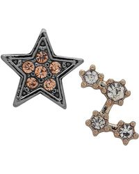 Lonna & Lilly - Mis-match Crystal Embellished Celestial Earrings - Lyst