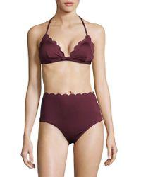Kate Spade - Core Solids Scalloped Triangle Bikini Top - Lyst
