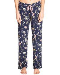 Pj Salvage Dreams Bloom Printed Pyjama Trousers - Blue