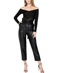 Bardot Debbie Vegan Leather Pant - Black