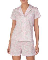 Lauren by Ralph Lauren - Short Pyjamas - Lyst