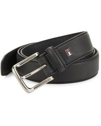 Tommy Hilfiger - Coated Leather Belt - Lyst