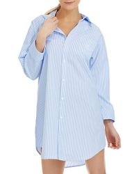 Lauren by Ralph Lauren - French Striped Sleep Shirt - Lyst