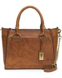 Frye - Demi Mini Satchel (grey Smooth Pull Up) Satchel Handbags - Lyst