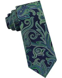 Ted Baker Silk Paisley Tie - Green