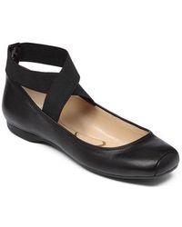 Jessica Simpson - Mandalaye Leather Flats - Lyst