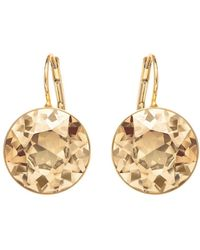 Swarovski Bela Faceted Crystal Drop Earrings - Yellow
