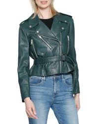 Walter Baker - Celina Leather Moto Jacket - Lyst