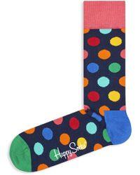 Happy Socks - Multicolored Polka Dot Crew Socks - Lyst