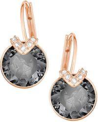 Swarovski Bella Rose-goldplated V Drop Earrings - Metallic