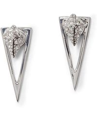 Vince Camuto Crystal Pave Triangle Dangle & Drop Earrings - Metallic