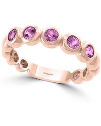 Effy 14k Rose Gold & Amethyst Link Ring - Pink