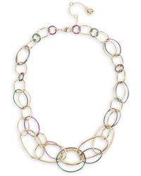 BCBGeneration Two-tone Link Statement Necklace - Metallic