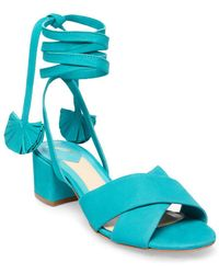B Brian Atwood - Astor Nubuck Leather Sandals - Lyst