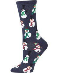 Hot Sox - Snowman Crew Socks - Lyst