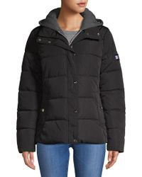 Tommy Hilfiger - Hooded Puffer Coat - Lyst