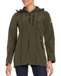 Halifax Traders - Melange Softshell Hooded Jacket - Lyst