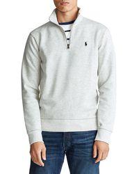 Polo Ralph Lauren Double-knit Half-zip Sweater - Gray