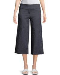 Isaac Mizrahi New York - Slimming Cropped Culotte Trousers - Lyst