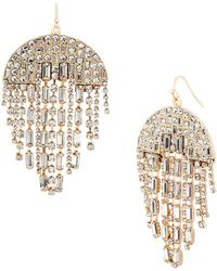 Steve Madden - Crystal Chandelier Earrings - Lyst