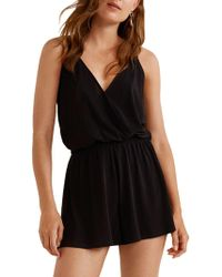 Mango - Wrap Short Jumpsuit - Lyst